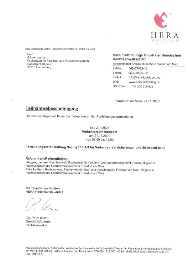 Günter Loerke - Fortbildung: Verkehrsrecht kompakt